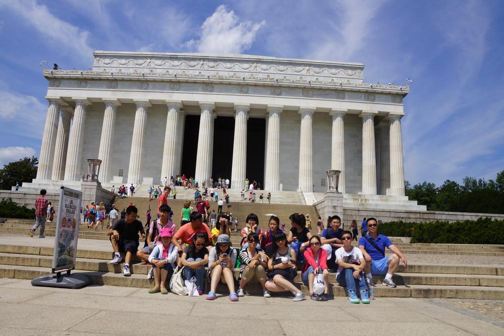 首都華盛頓的林肯紀念堂